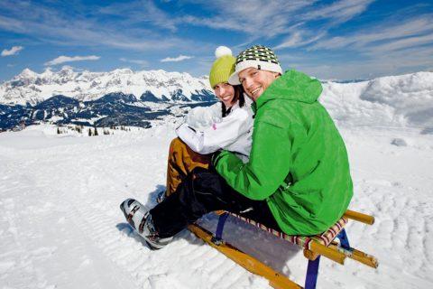 Rodeln - Winterurlaub in der Urlaubsregion Schladming-Dachstein