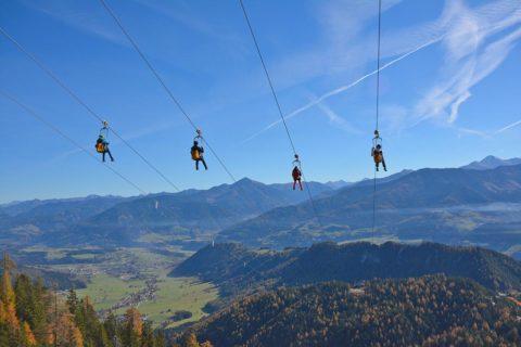 Zipline am Stoderzinken, Sommerurlaub in der Urlaubsregion Schladming-Dachstein